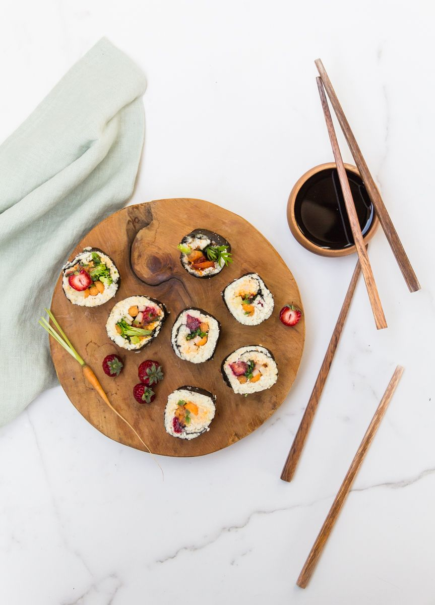 Sushi - rice replaced with cauliflower