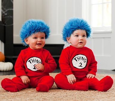 I love the Baby Thing 1  2 Costumes on potterybarnkids Mariah - dr seuss halloween costume ideas