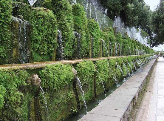 Fountain Landscaping Renaissance Gardens Italian Garden Sustainable Landscaping