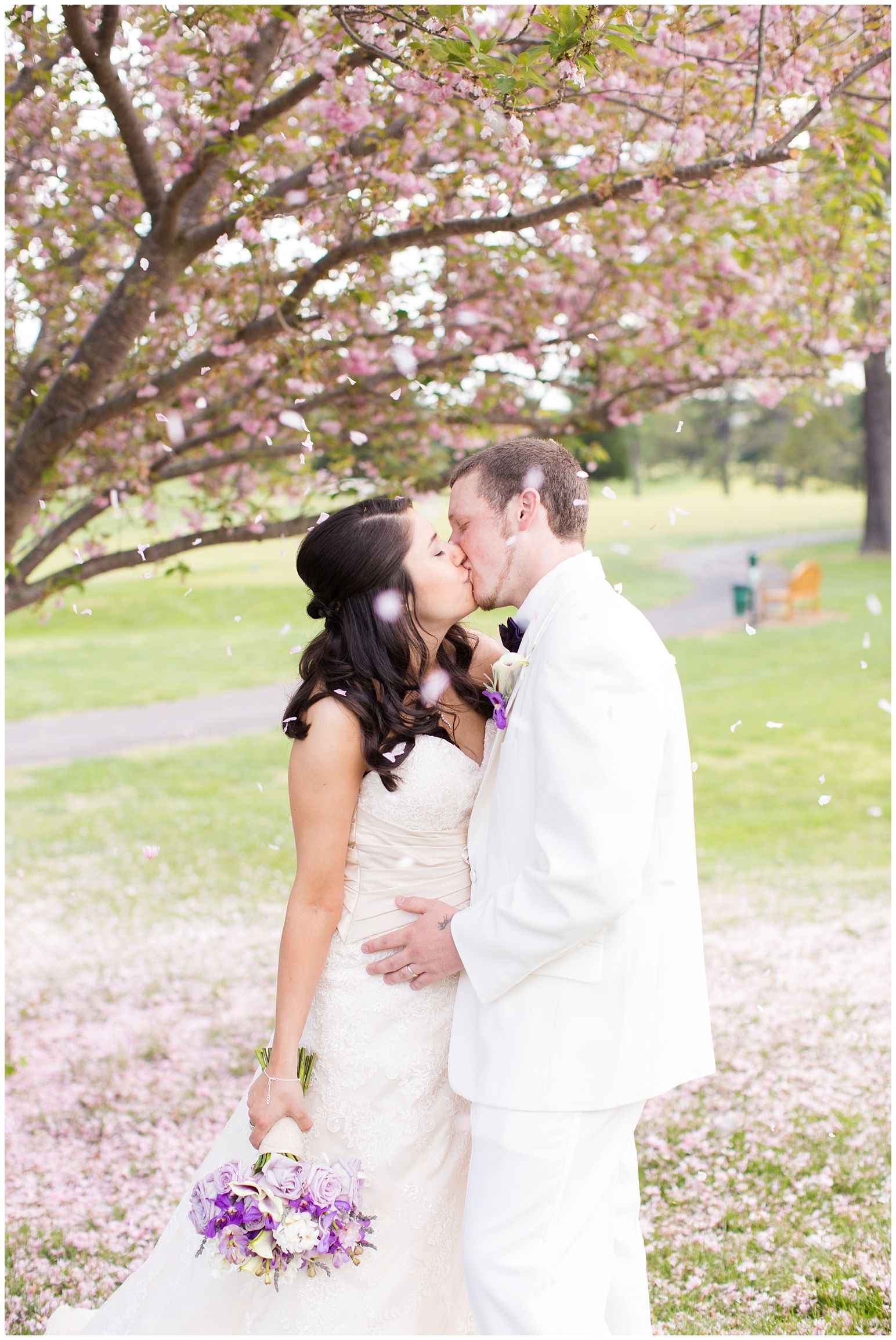 Purple and white Spring wedding by Allison Maxwell Photography