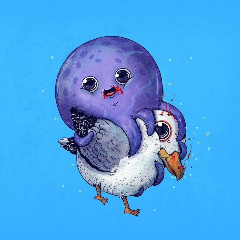 La Adorable Cruda Realidad Del Mundo Animal Imagenes De Arte Abstracto Dibujos Bonitos De Animales Dibujos Kawaii