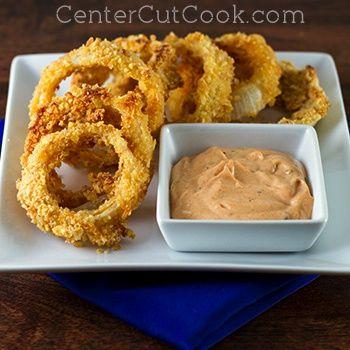 crispy baked onion rings recette eat drink b ba m ma. Black Bedroom Furniture Sets. Home Design Ideas