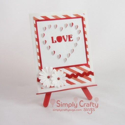 Heart Cutout Love Card Svg File Simply Crafty Svgs Anniversary Cards Handmade Love Cards Free Anniversary Cards