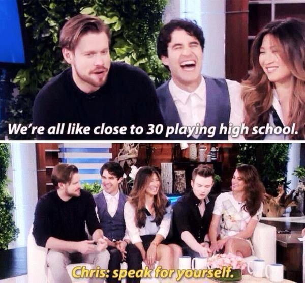 Glee on Ellen 8/11