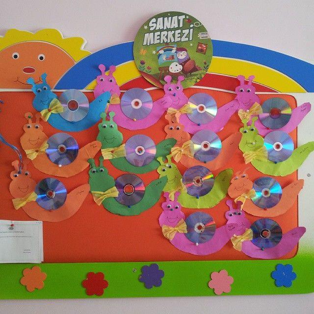 Cd Craft Ideas For Kids Part - 15: Cd Snail Craft Idea For Kids (2)