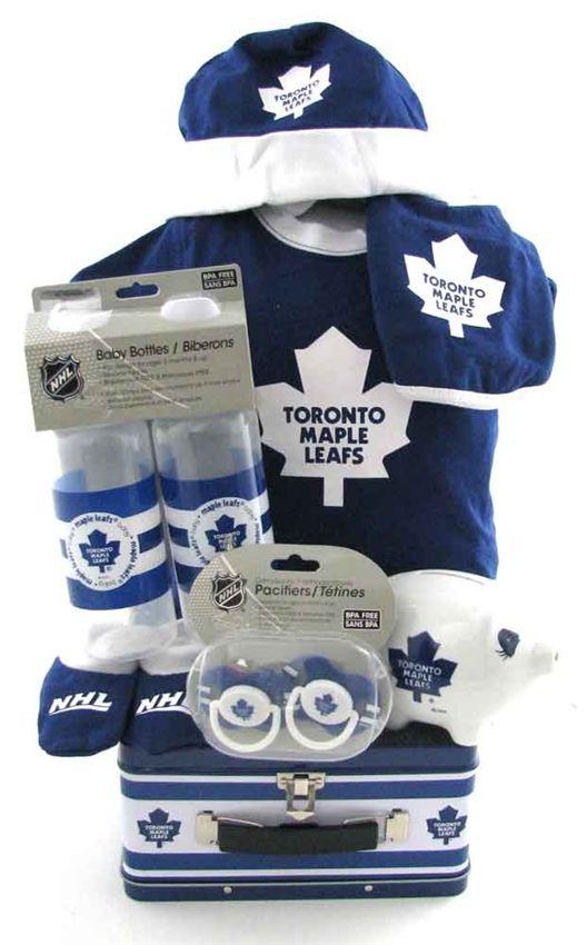Maple Leafs Hockey Team Volleyball Team Gift Ideas Baby Boy Gift Baskets Baby Boy Gifts Gift Baskets Canada