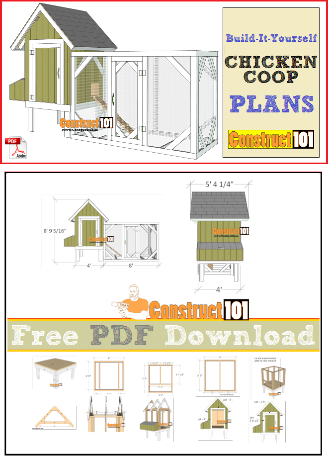 4x4 Chicken Coop Plans PDF Download