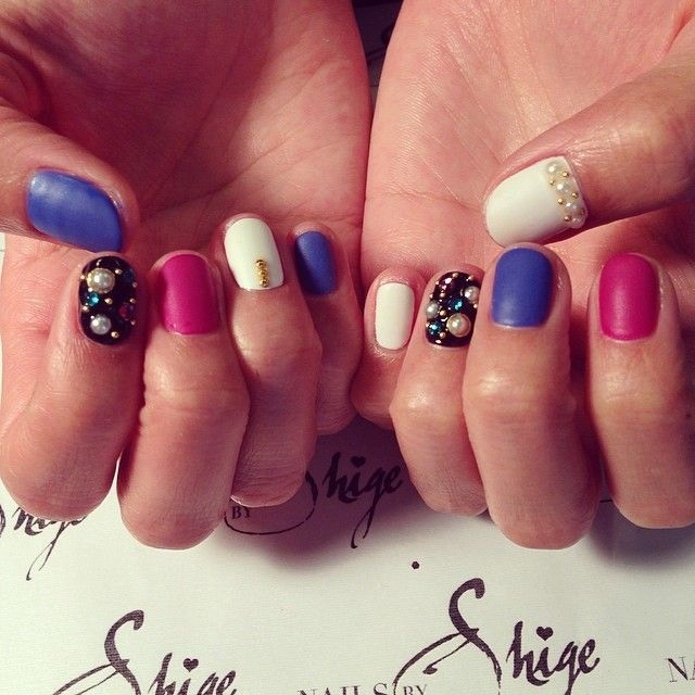 Cal Gel Nail: Nails By Shige #calgel #nailart #manicure