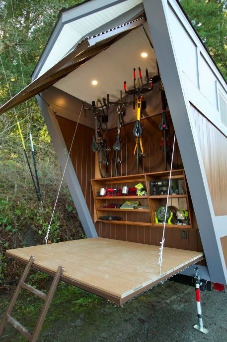 203 Sq Ft Tiny House On Wheels With Built In Bicycle Garage