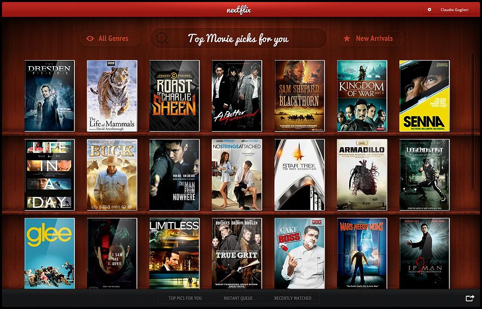 Image result for Claudio Guglieri redesign of Netflix.