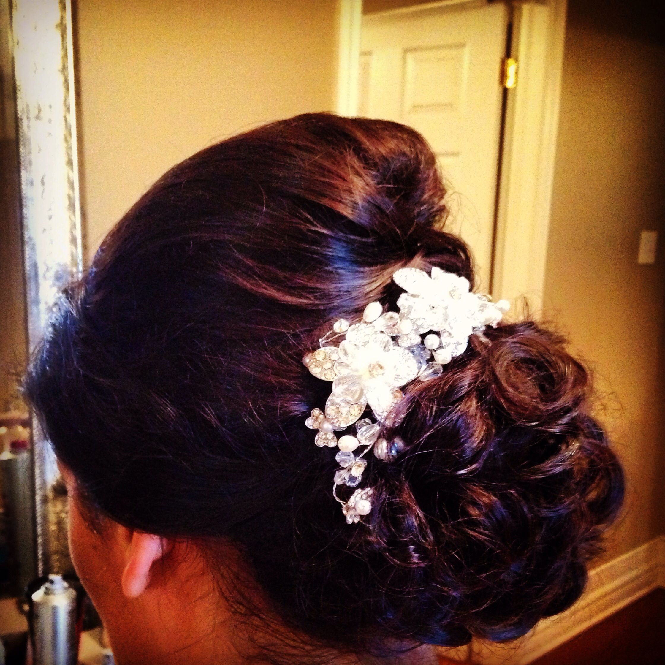 side bun low bun messy bun updo wedding