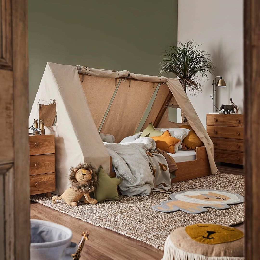 "freedom Australia's Instagram profile post: ""Our Kid's bedroom range has arrived! Your little ones will fall in love with every piece, including the safari-themed Hideout bed with…"""