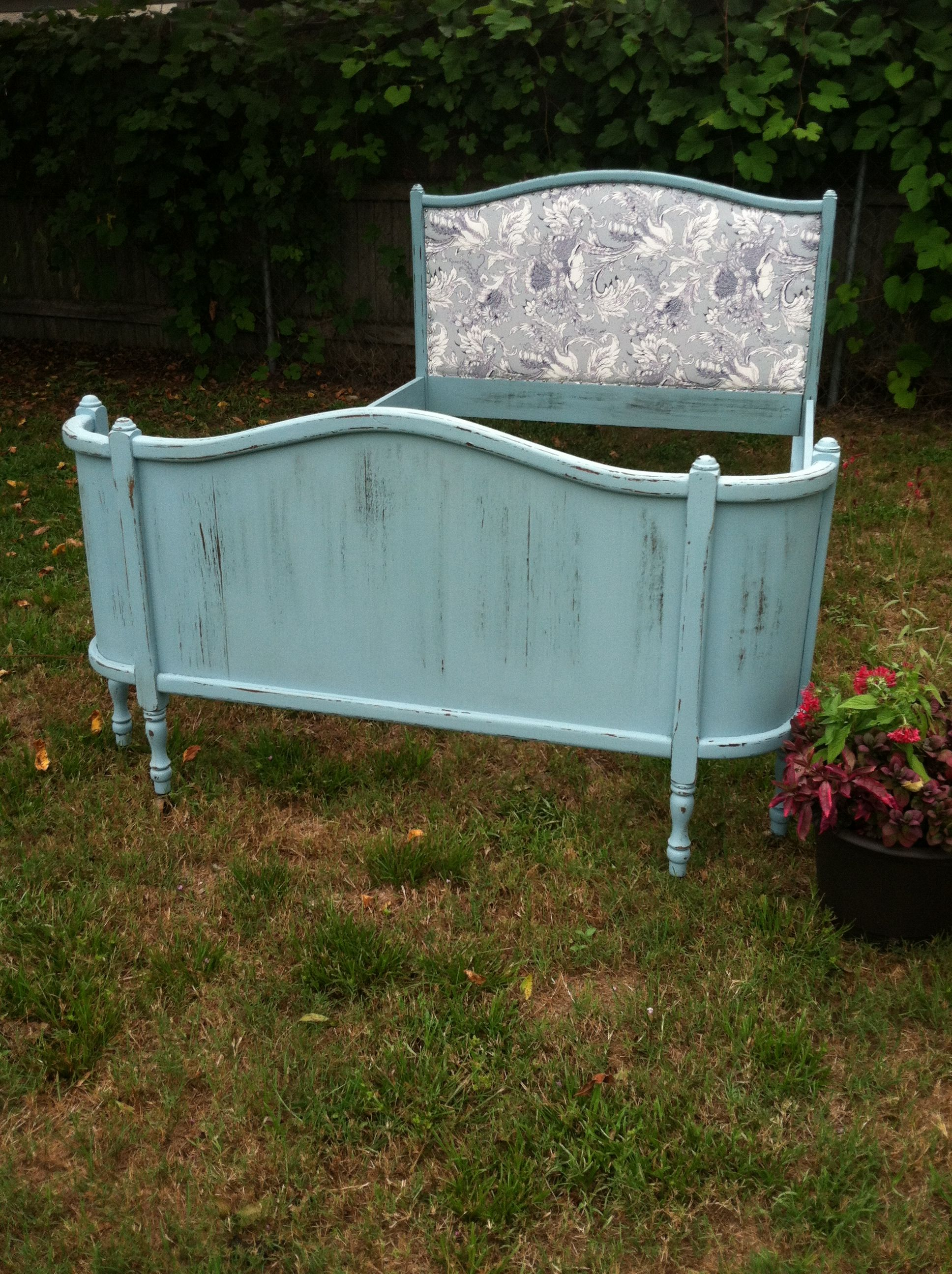 Duck Egg Blue Antique Wrap Around Bed Frame Painted And Distressed By Dearest Victoria