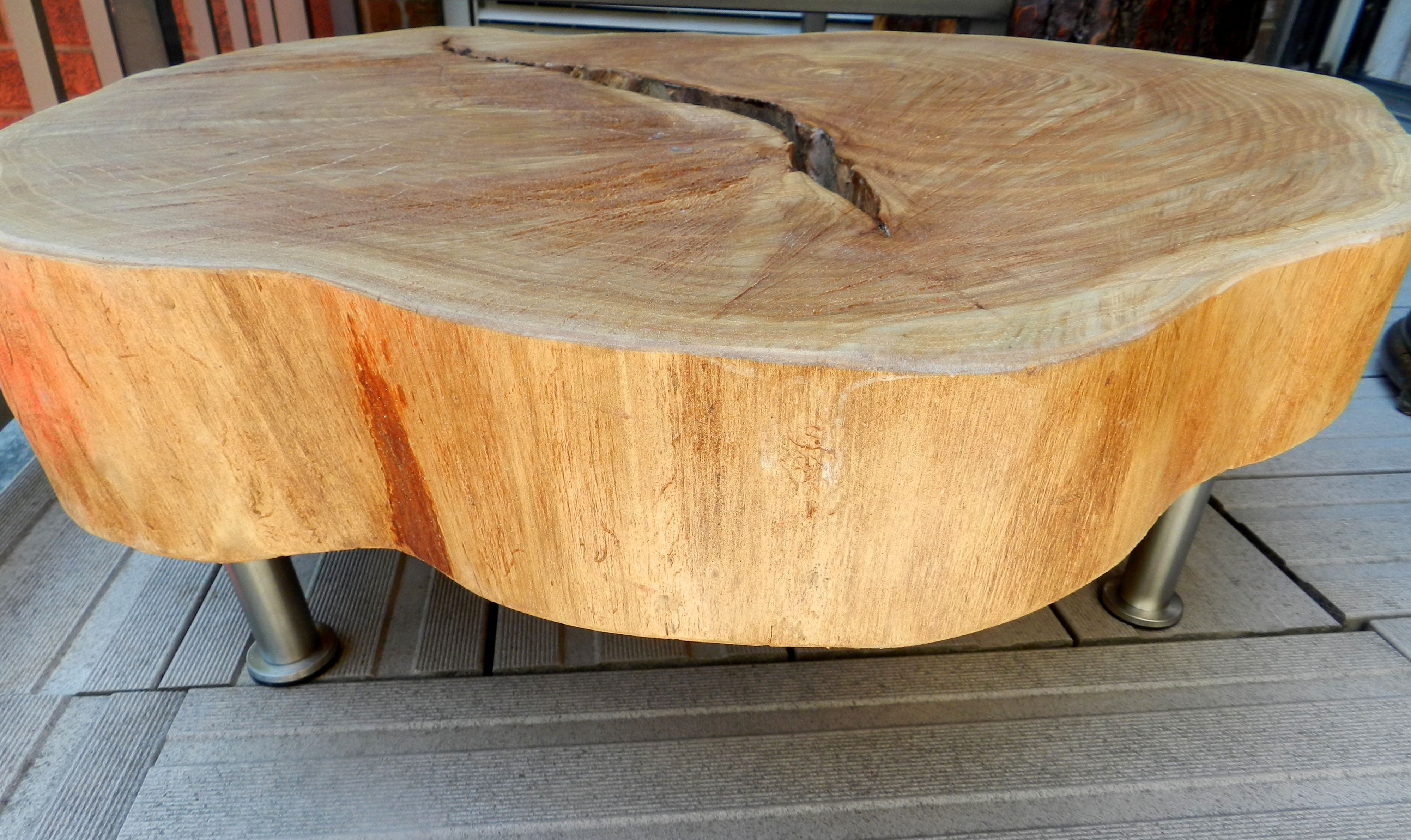 Tree Ring Brokenhearted Wood Slab Table Rings Slices Coffee Tables