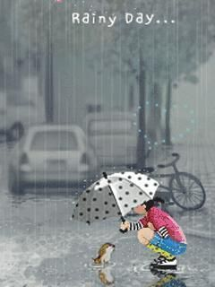 Rainy Day Mobile Wallpaper Rain Illustration Rain Art Dancing In The Rain