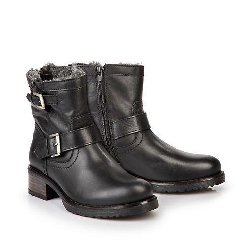f2cdb580d598 Gefütterte Buffalo Biker Booties in schwarz   Boots   Boots, Shoes ...
