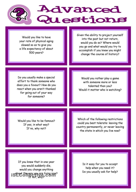 ADVANCED Conversation Promptcards about VALUES, BELIEFS, ETHICS