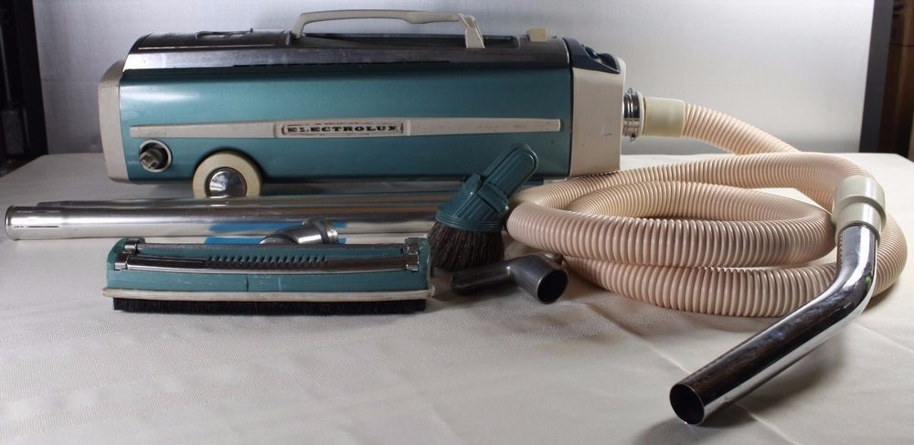 vintage electrolux canister vacuum model with attachments tested and works in vintage vacuums ebay
