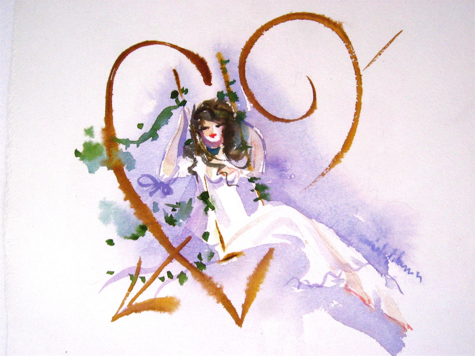 Illustration by Lolita Lempicka with water colours =)