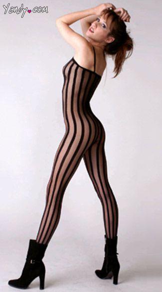 45e318b4af8 Striped Bodystocking