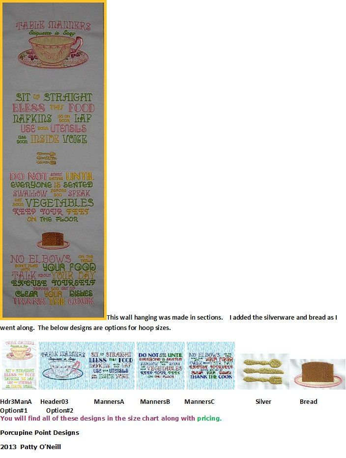 Page towel napkins wall hanging table manners size chart and pricing also rh pinterest