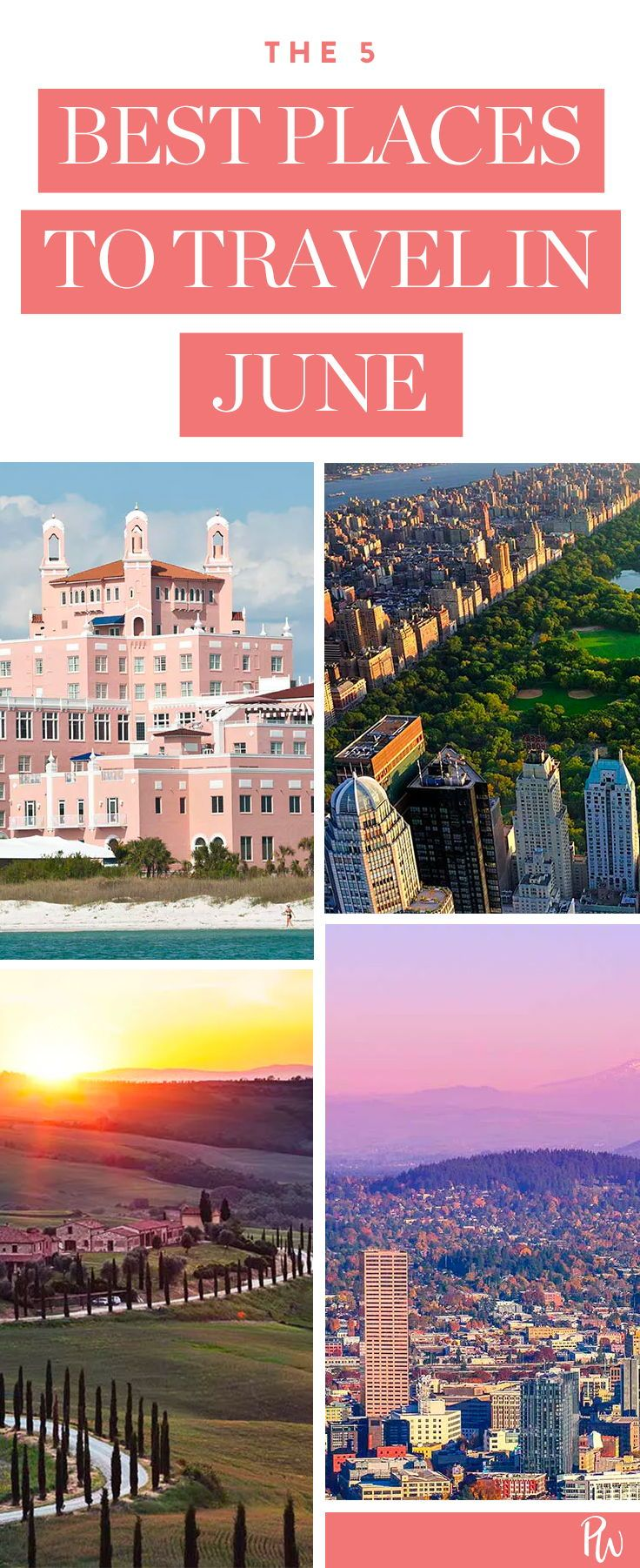 The 5 Best (and Most Affordable) Places to Travel in June  Places to travel, Best places to