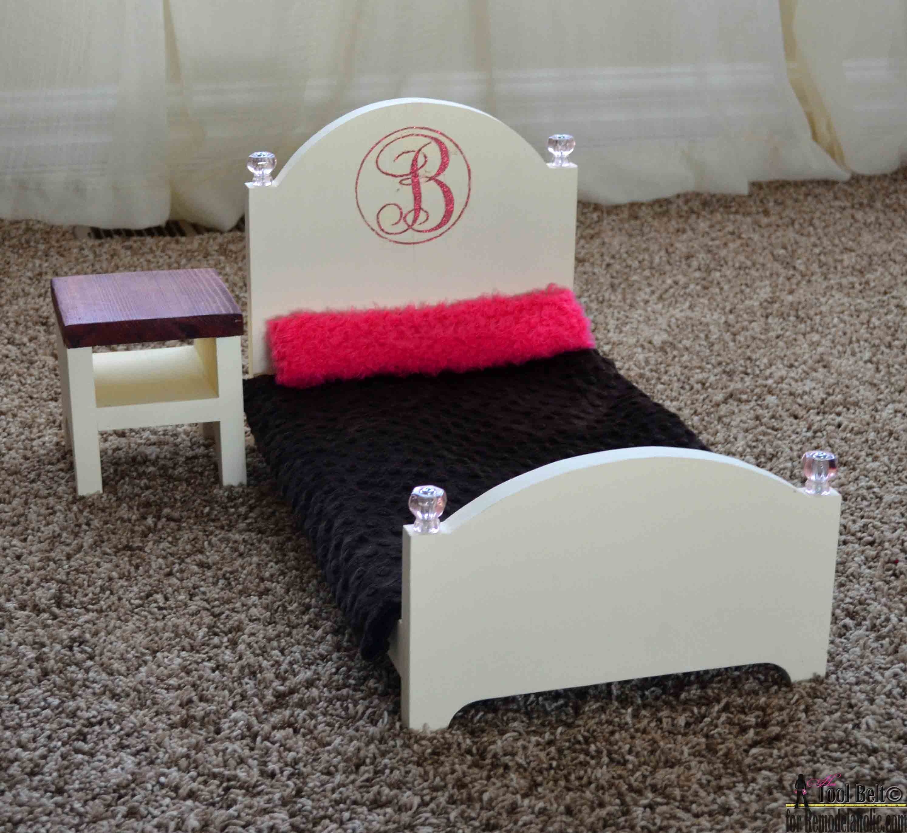barbie furniture diy. Build A DIY Elegant Doll Bed And Bonus Nightstand. All You Need Is Board Barbie Furniture Diy