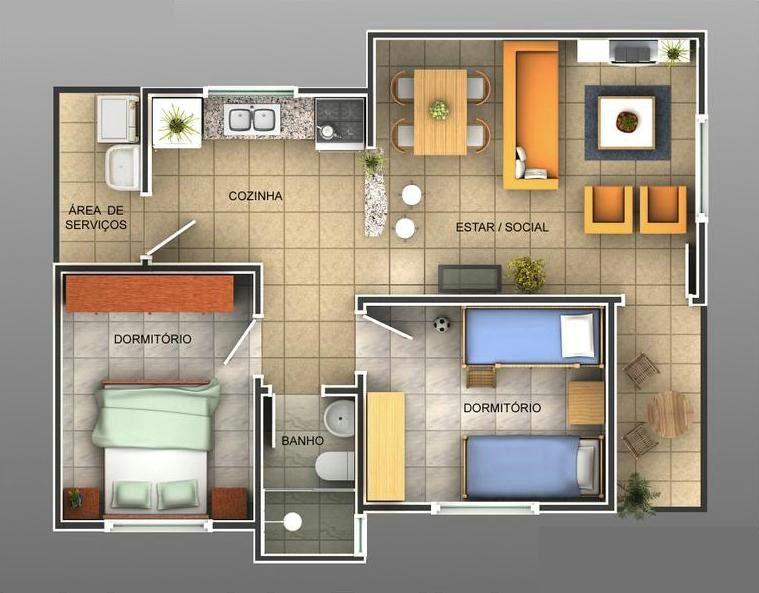 Plantas de casas t rreas modernas casa planta baja 80m - Casas planta baja modernas ...