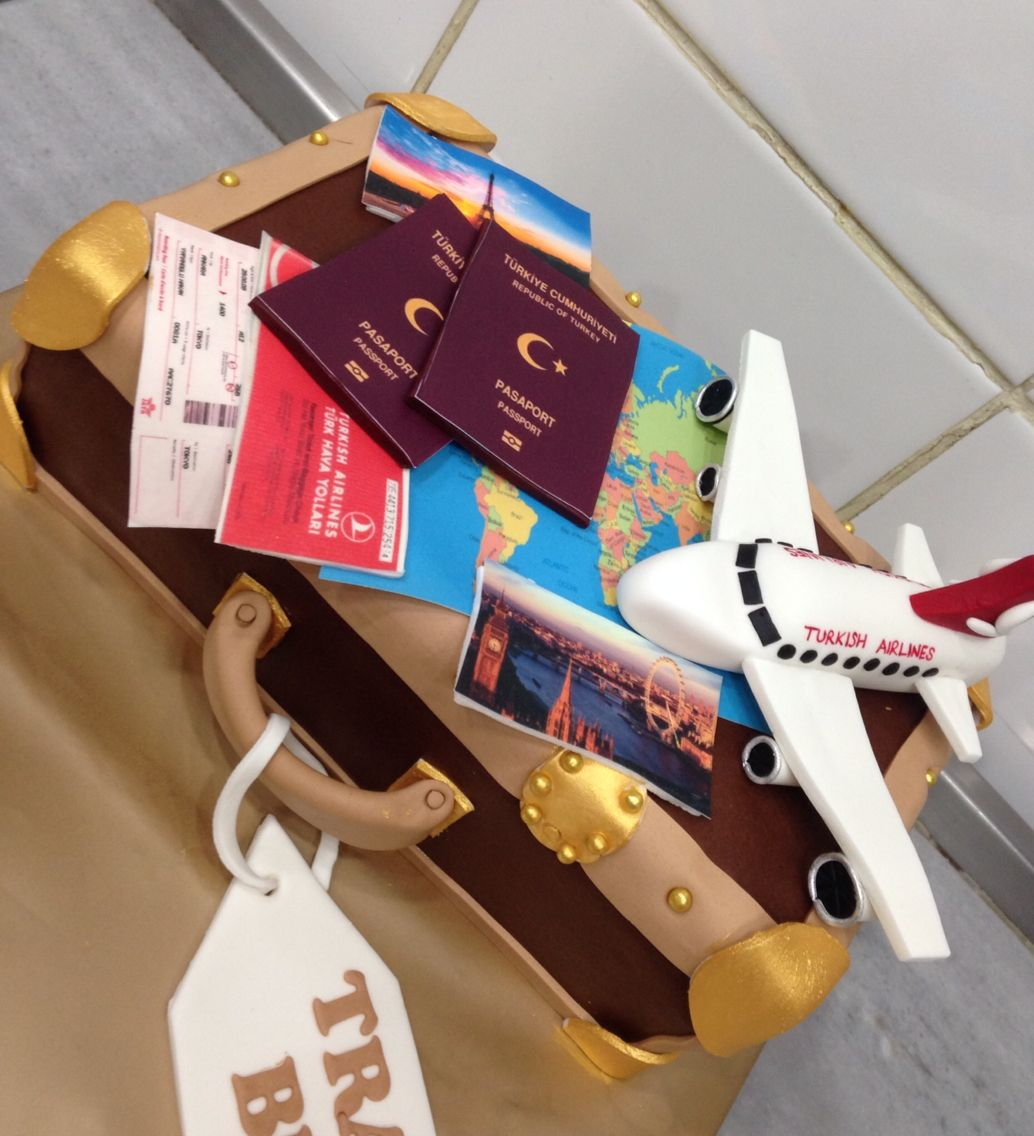 Plane Airplane Pasaport Ticket Travel Bag Holiday Vacation