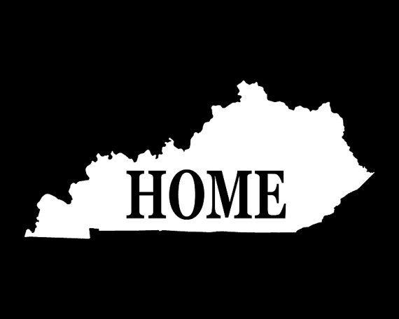 Kentucky Decal, Car Decal, State Sticker, Laptop Sticker, Kentucky Sticker, Bumper sticker, Vinyl Decal, Car Stickers