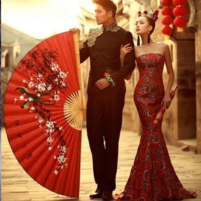 Exhibition theme wedding theme of China wind wedding photo studio theme wedding couple