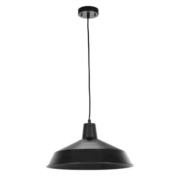 Matte Black Barn Light Pendant 65155