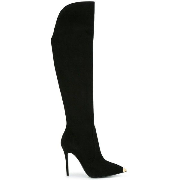 Designer Clothes, Shoes & Bags for Women | SSENSE. Black Over Knee  BootsThigh ...