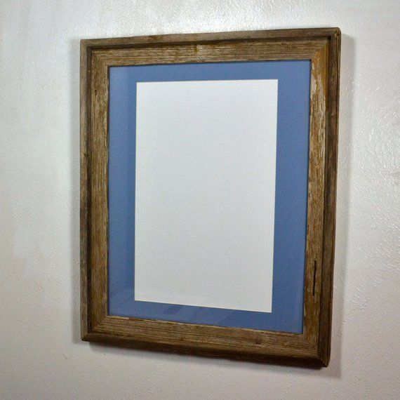 Poster Frame Reclaimed Wood 11x17 Light Blue Mat 16x20 Without Mat Multiple Mat Colors And Mat Openi Picture On Wood