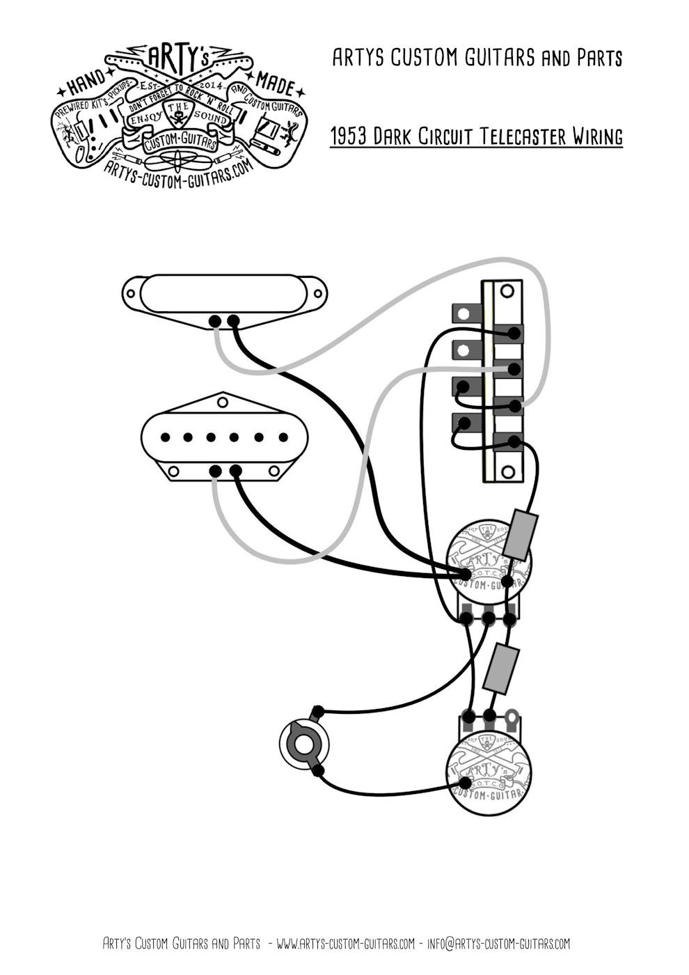 Arty U0026 39 S Custom Guitars Wiring Diagram Plan Telecaster