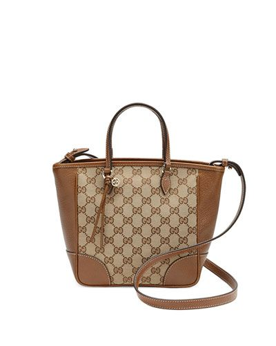 bee384434b04 GUCCI Bree Small Gg Canvas Tote Bag