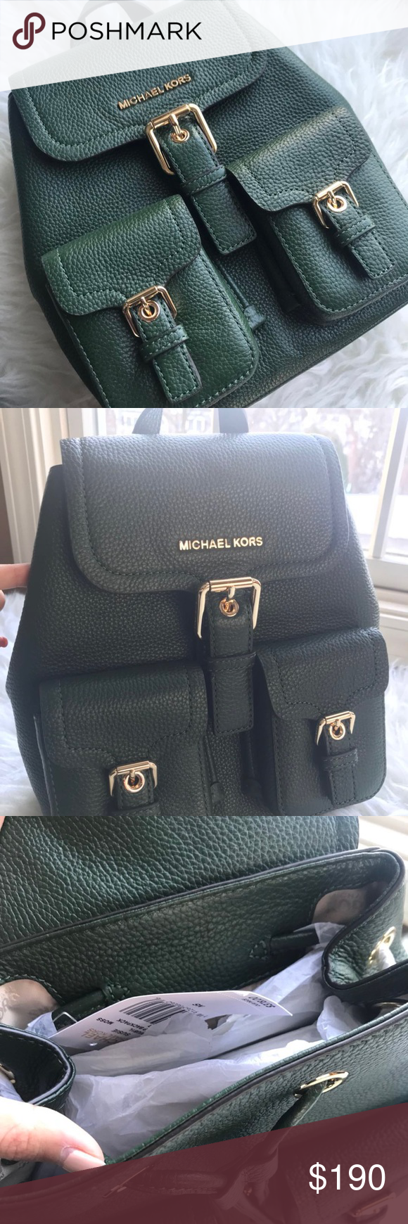 b27f6d61f66414 Michael Kors Susie Small Flap Backpack Size: Small Style: Backpack Closure:  Flap Material: Leather Michael Kors Bags Backpacks