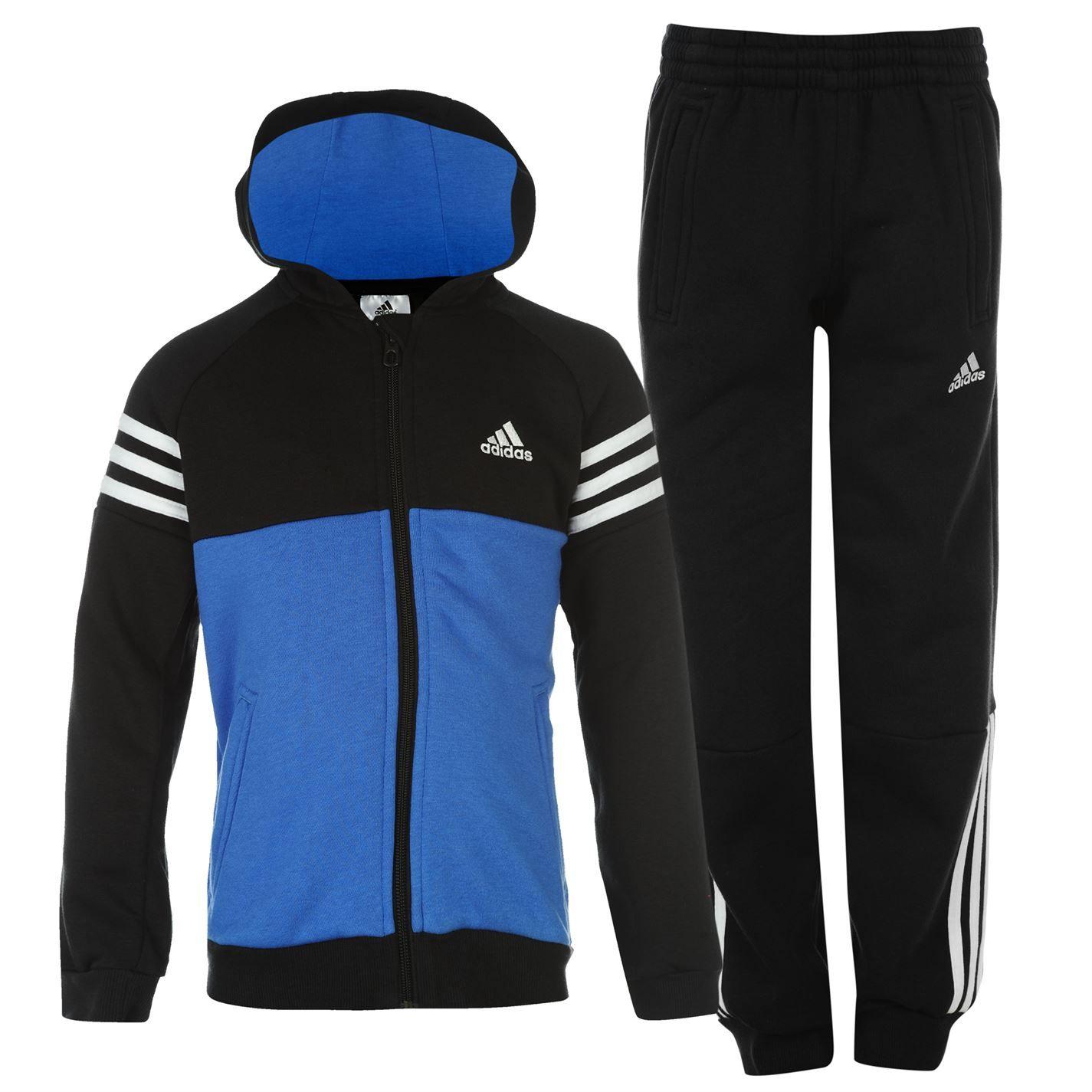 adidas 3 stripe jogging suit junior