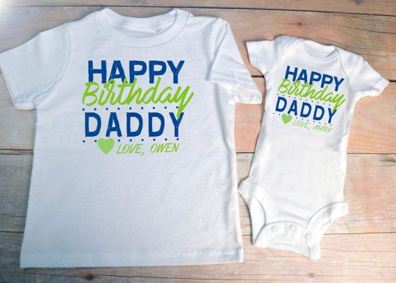 HAPPY BIRTHDAY DADDY Shirt Set Infant Little By IntenseDesign