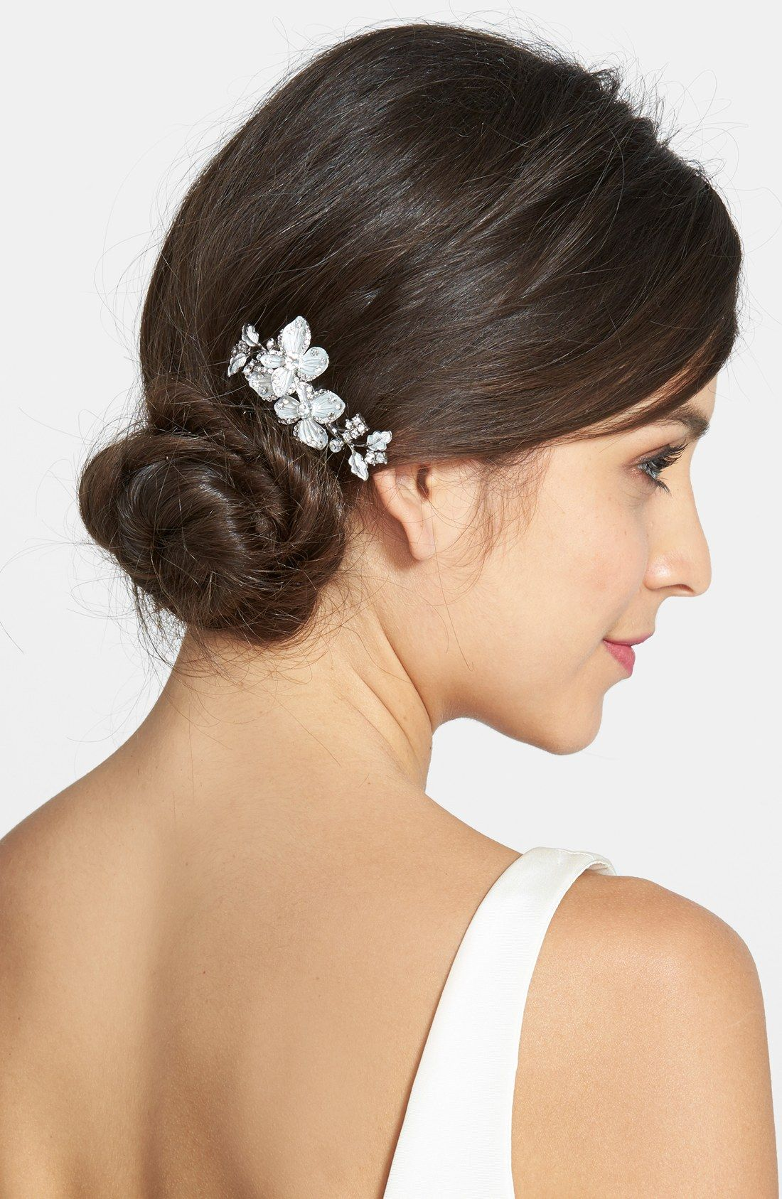 wedding belles new york crystal floral hair comb | wedding hair