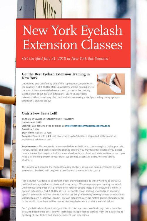 New York Eyelash Extension Classes New York Eyelash Extension