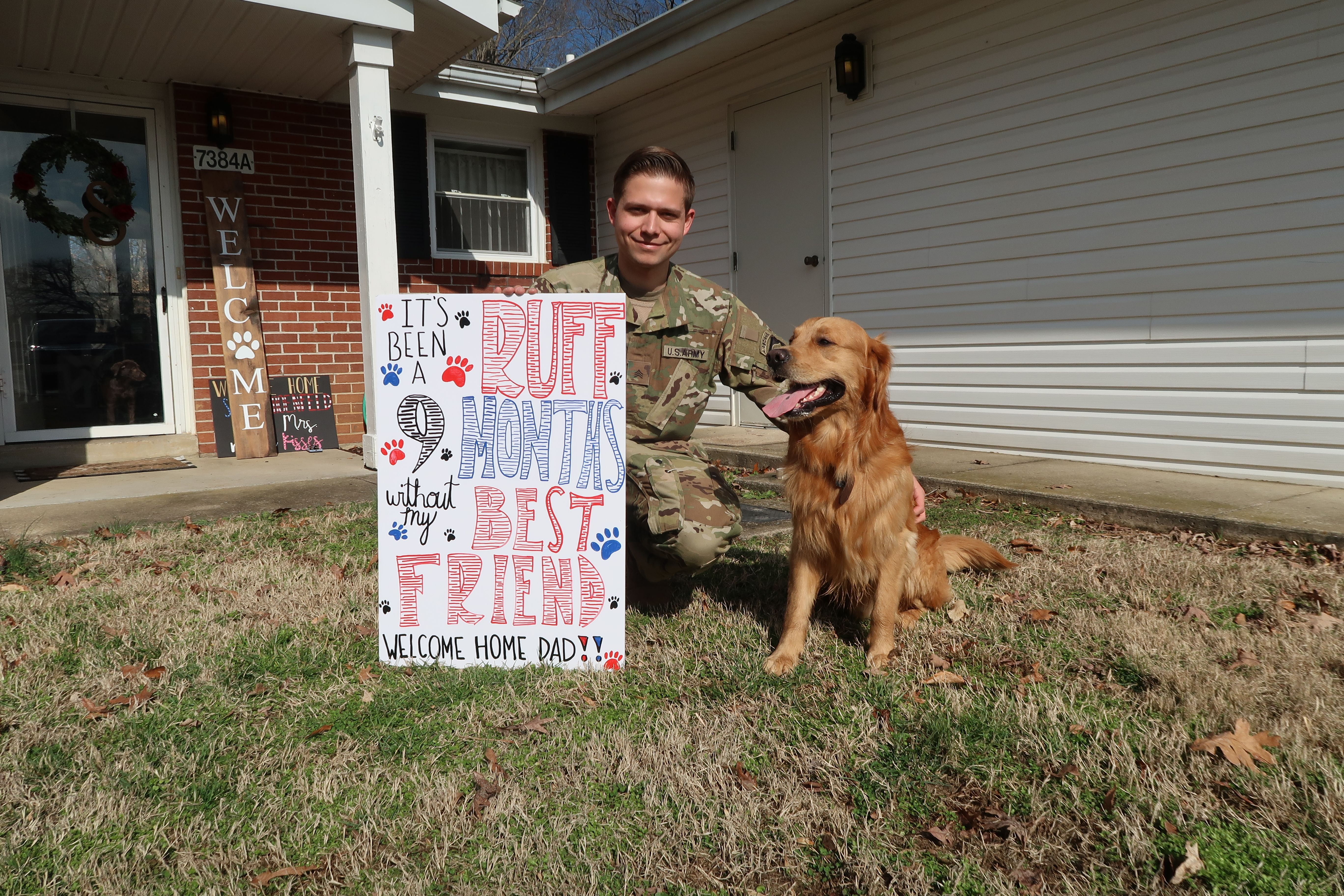 Military home sign dog home signs