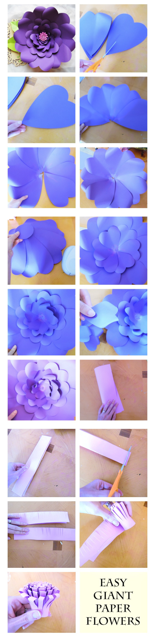 How To Make Giant Paper Flowers With Templates Creative Craft