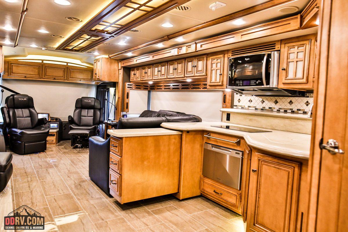The kitchen inside 2016 Winnebago Tour 42QD