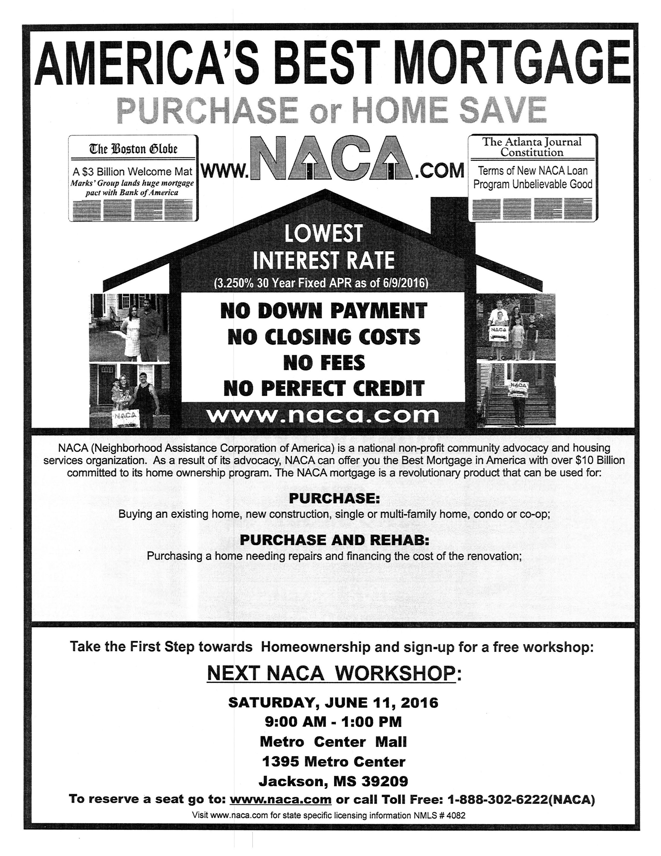 Jackson Ms Join Us This Saturday For Our Americandream Workshop At The Metro Center Mall The Workshop Is Free Closing Costs Home Ownership Atlanta Journal