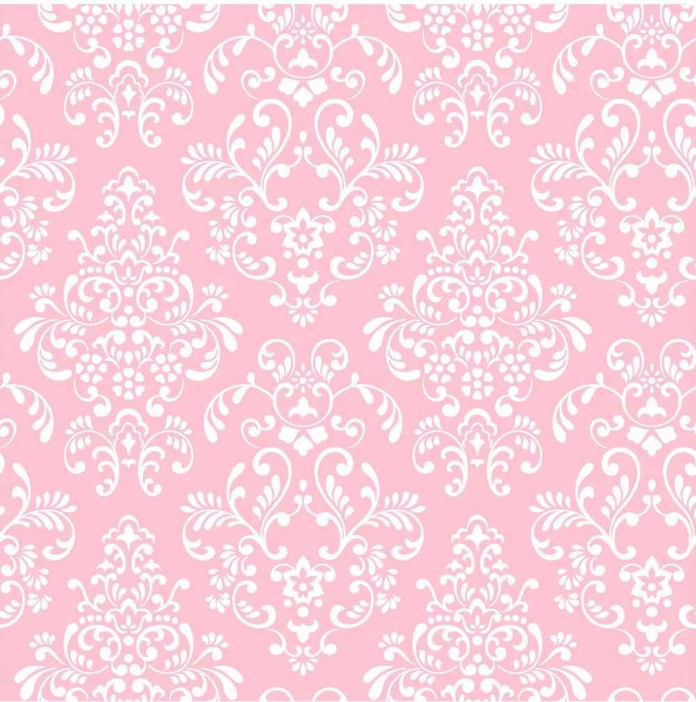 Wallpaper Black Pink: Pink And Black Damask Pattern - Viewing Gallery