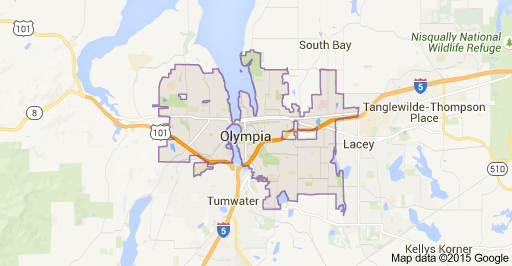Map of Olympia, WA | Maps | Washington map, Map, Olympia washington