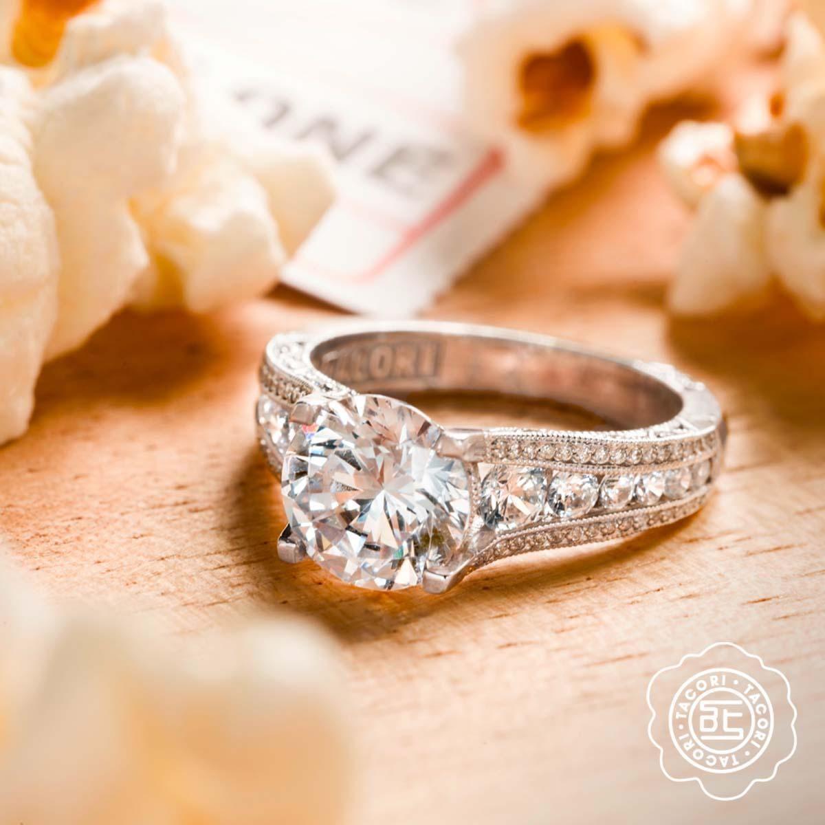 Tacori classic crescent diamond semimount reeds bridal collection