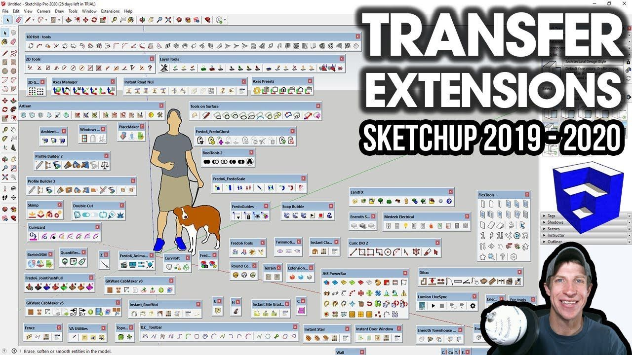 Transferring Extensions From Sketchup 2019 To Sketchup 2020 In
