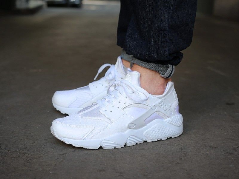 19b56886f120 真标 PU!耐克华莱士 Nike Air Huarache纯白色Pure Platinum 318429-111 ...